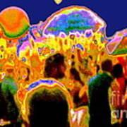 Street Festival At Night Poster