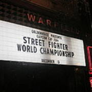 Street Fighter World Championship - Warfield Marquis Sign Poster