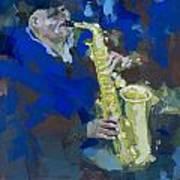 Street Jazzman Near Park  Poster