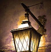 Street Lamp Shining Poster