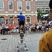Street Performer Faneuil Hall Market Boston Poster