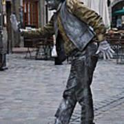 Street Performer In Munich Poster