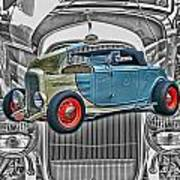 Street Rod In Grill Poster