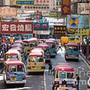 Street Scene In Hong Kong Poster by Matteo Colombo