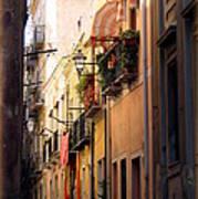 Street Scene In Italy Poster