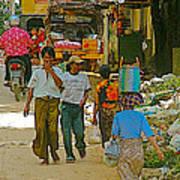 Street Scene In Tachilek-burma Poster