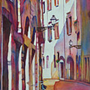 Street Scene Italy Poster