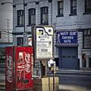 Street Scene With Coke Machine No. 2110 Poster
