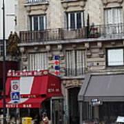 Street Scenes - Paris France - 011352 Poster by DC Photographer