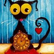 Stressie Cat And The Tick Tock Poster