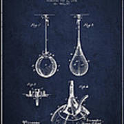 Striking Bag Patent Drawing From1891 Poster by Aged Pixel