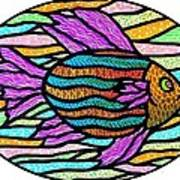 Striped Tropical Fish Poster