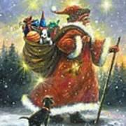 Strolling Santa II Poster