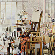 Studio, 1986 Oil On Canvas Poster