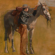Study For Cowboys In The Badlands Poster