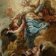 Study For The Assumption Of The Virgin Poster by Jean Baptiste Deshays de Colleville