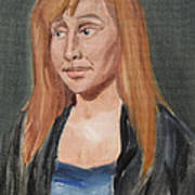 Study Of A Young Woman In A Black Sweater Poster