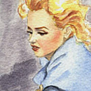 study of Marilyn Monroe Poster
