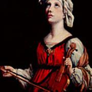 Study Of St. Cecelia Poster