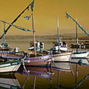 Stunning Fishing Port Poster