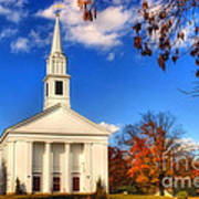 Sturbridge Church In Autumn Poster