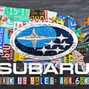 Subaru License Plate Map Sales Celebration Limited Edition 2013 Art Poster
