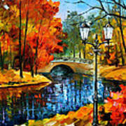 Sublime Park - Palette Knife Oil Painting On Canvas By Leonid Afremov Poster