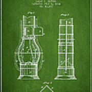 Submarine Telescope Patent From 1864 - Green Poster