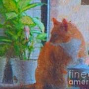 Suburban Jungle Cat Poster