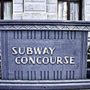 Subway Concourse At City Hall Poster