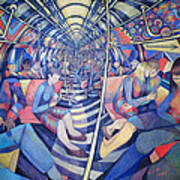 Subway Nyc, 1994 Oil On Canvas Poster