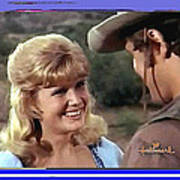 Sue Green Mark Slade The High Chaparral 1966 Pilot Screen Capture Collage 1966-2012 Poster