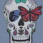 Sugar Candy Skull Bubbles Poster