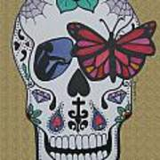 Sugar Candy Skull Sand Poster