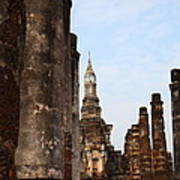Sukhothai Historical Park - Sukhothai Thailand - 011320 Poster by DC Photographer