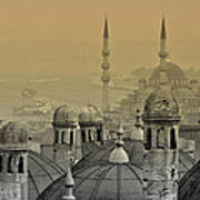 Suleymaniye Mosque And New Mosque In Istanbul Poster