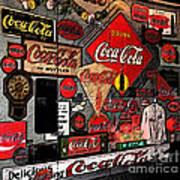 Sumi-e Styled Coca Cola Signs Poster