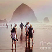 Summer At The Seashore  Poster