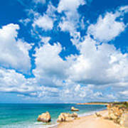 Summer Beach Algarve Portugal Poster