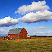 Summer Clouds Over Farm Country I Poster