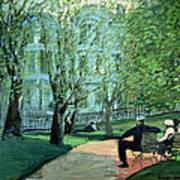 Summer Day Boston Public Garden Poster