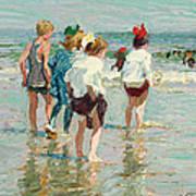 Summer Day Brighton Beach Poster