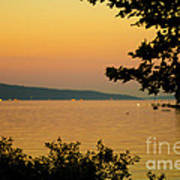 Summer Evening On Cayuga Lake Poster