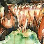 Horse Painting In Watercolor Summer Horse Poster