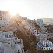 Summer In Santorini Poster