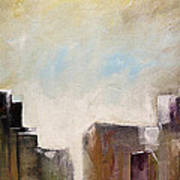 Summer In The City Abstract Geometric Original Painting On Canvas Poster