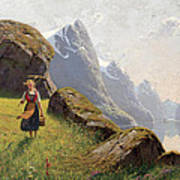 Summer In The Fjord Poster