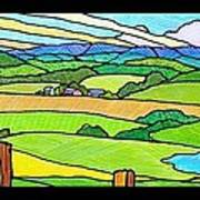 Summer In The Shenandoah Valley Poster