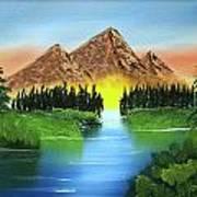 Summer Lake Sunrise Poster
