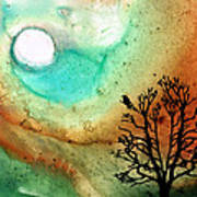 Summer Moon - Landscape Art By Sharon Cummings Poster by Sharon Cummings